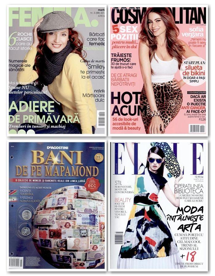 Care sunt trendurile hot ale sezonului? Noua editie Cosmopolitan iti prezinta 55 de look-uri accesibile si de impact! Revista este insotita si de un mini deo Gerovital, totul la doar 8.9 lei!  Lista completa cu toate revistele noi de maine o puteti gasi aici: http://inmedio.ro/categorii?livrare=2014-02-25&frecventa&tara&inserturi