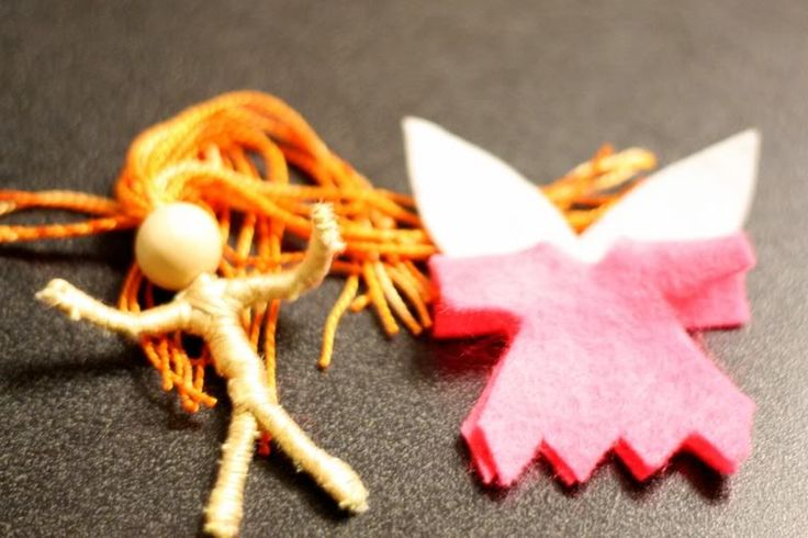 Making tiny fairies from pipe cleaners.  We have done this, but now we need to make some felt clothes.