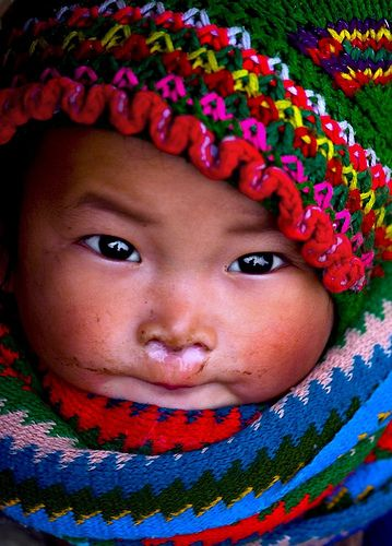 H'Mong baby: Face, Beautiful, Baby Girl, Children, Vietnam, World, People, Photography, Hmong