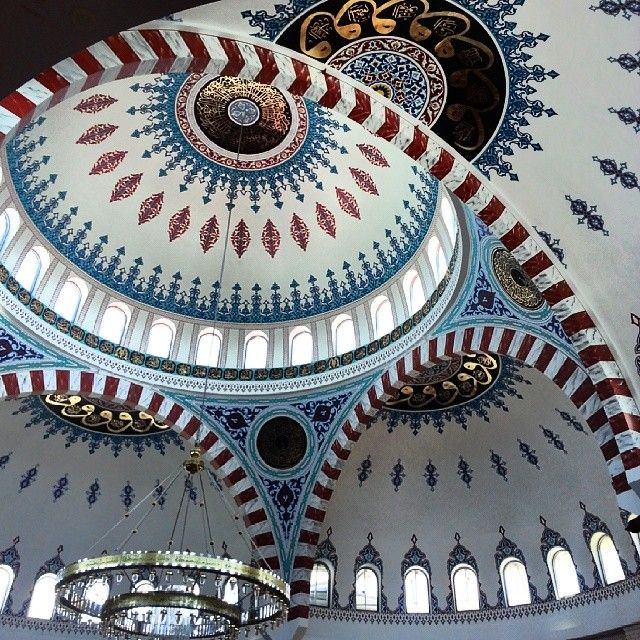 Need #contemplation #time today. #YesUmmi enjoying the #peace #serenity #metime #Melbourne #worship #inspiration #art ceiling of the #Cyprus # Turkish #islamic  # community # mosque #Sunshine