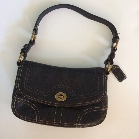 "Like new Coach handbag Very very gently used genuine Coach handbag. Black leather. 7x10"". Excellent condition. Coach Bags"