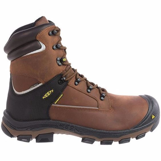 New Keen Mens Portland PR 8-Inch Leather Aluminum Toe Safety Work Boots Sz 15 2E #KEEN #WorkSafety