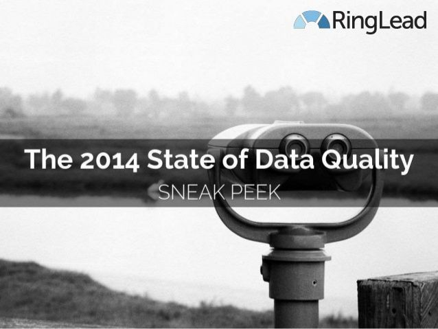RingLead is currently conducting the Data Quality Questionnaire to gather data for the first ever State of Data Quality Benchmark Report. Here are the preliminary findings from the first round of respondents.
