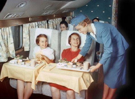 Airplane travel - 1954