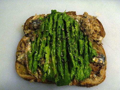 Alton Brown's Sardine-Avocado Sandwiches   Serious Eats : Recipes