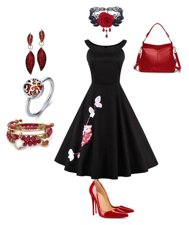 """""""Untitled #3"""" by gaulosaturne on Polyvore featuring WithChic, Christian Louboutin and Alex and Ani"""