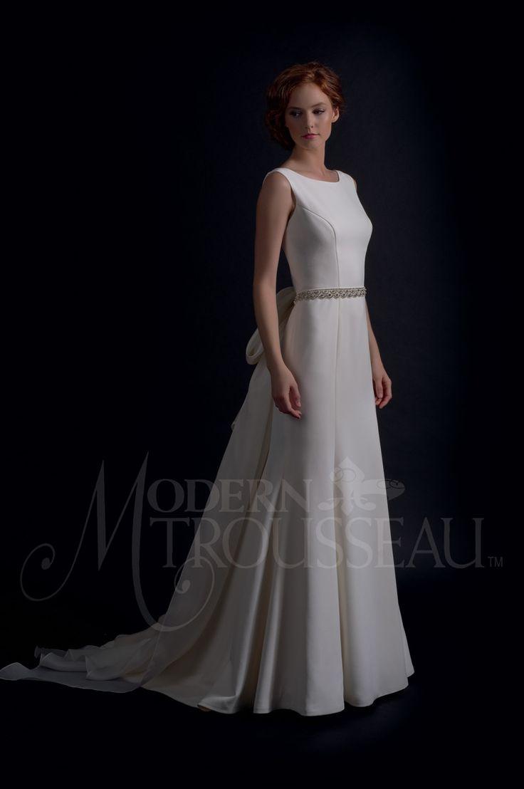 bateau neckline - Modern Trousseau Fall 2016 Wedding Dresses | itakeyou.co.uk #weddinggown #weddingdress: