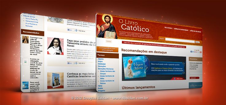 Portal O Livro Católico | Douglas Baldan - Online Portfolio | Criar sites, blogs, Templates de Wordpress, Freelancer, layout