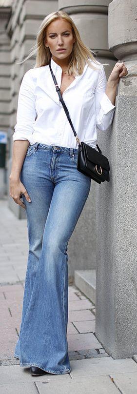 Petra Tungarden Flare Jeans Outfit Idea                                                                             Source