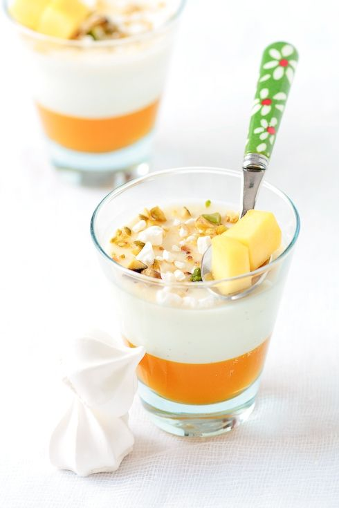 mango amp vanilla bean buttermilk panna cottas recipe amp photo by ...