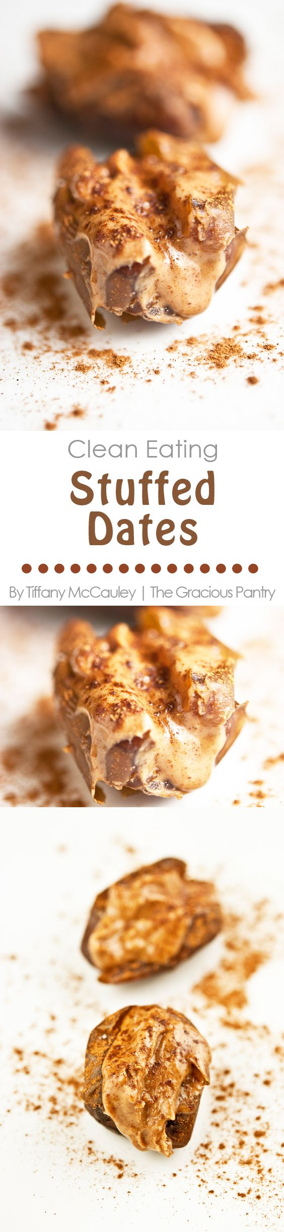 Clean Eating Recipes | Healthy Snacks | Stuffed Dates | Healthy Recipes | Snack Recipes ~ http://www.thegraciouspantry.com
