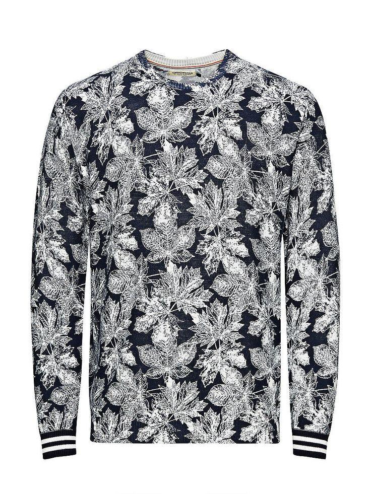 ORIGINALS by JACK & JONES - Pullover von ORIGINALS - Regular fit - Rundhalsausschnitt - Komplett bedruckt mit Blätter - Bündchen und Saum sind gerippt - Das Modell trägt Größe L und ist 187 cm groß 100% Baumwolle...