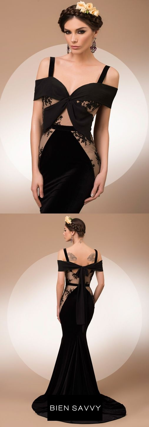 My Secret Dream, a romantic luxury evening dress crafted in velvet, lace and veil, My Secret collection
