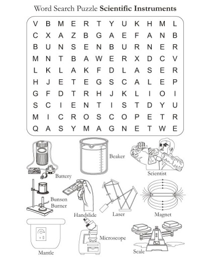 Word Search Puzzle Scientific Instrments | Download Free Word Search Puzzle Scientific Instrments for kids | Best Coloring Pages