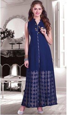 Navy Blue Color Georgette Achkan Style Designer Readymade Salwar Kameez | FH513078111 #salwar, #kameez, #readymade, #anarkali, #patiala, #pakistani, #suits, #online, #stitched, #indian, #dress, #material, #shopping, #fashion, #boutique, #mode, @heenastyle , #designer , #pakistani , #evening , #wedding , #casual , #palazzo , #patiyala , #punjabi , #churidar , #narrow