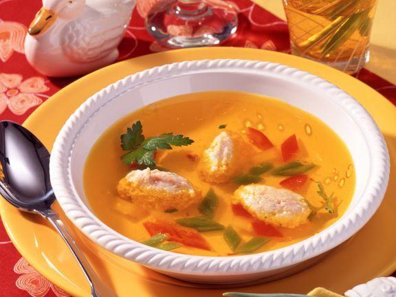 Klare Hühnerbrühe mit Ricotta-Klößchen ist ein Rezept mit frischen Zutaten aus der Kategorie Brühen. Probieren Sie dieses und weitere Rezepte von EAT SMARTER!