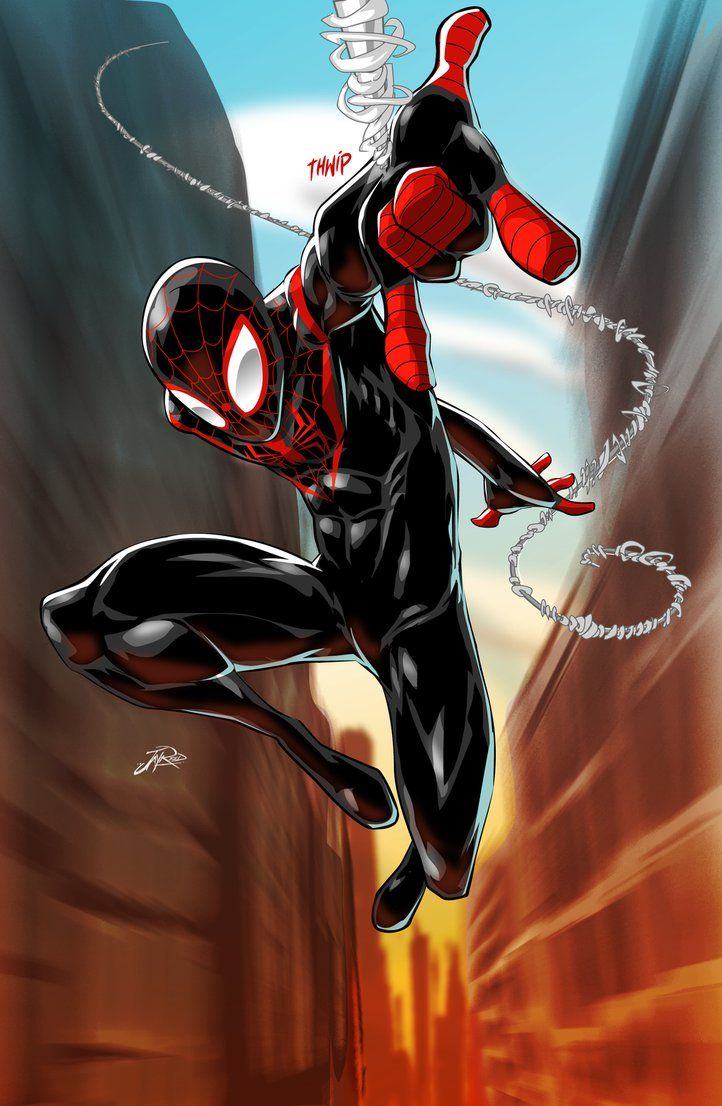 Miles Morales Ultimate Spider-Man by JayReedArt on DeviantArt