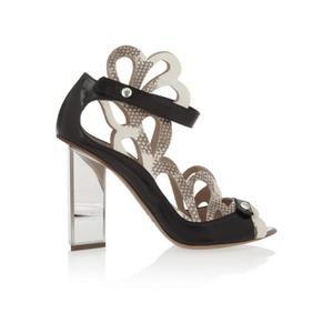Nicholas Kirkwood Woman Lace-up Elaphe, Leather And Mesh Sandals Animal Print Size 38 Nicholas Kirkwood