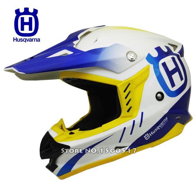 Husqvarna cascos de carreras de motocross casco off road rally profesional hombres casco de la motocicleta bici de la suciedad capacete moto casco