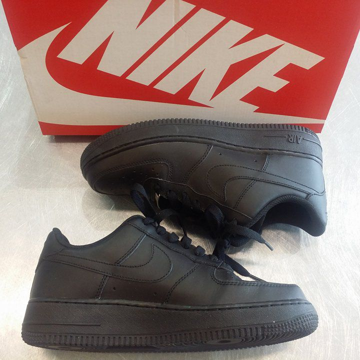 It doesn't get any more classic than Nike #airforce1 shoes… & in sleek black, we're #obsessed! #instashoes #shoesoftheday #sneakers // #Nike shoes, ladies size 7.5, $45 // | www.platosclosetbrampton.com