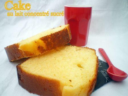 Cake au lait concentré sucré
