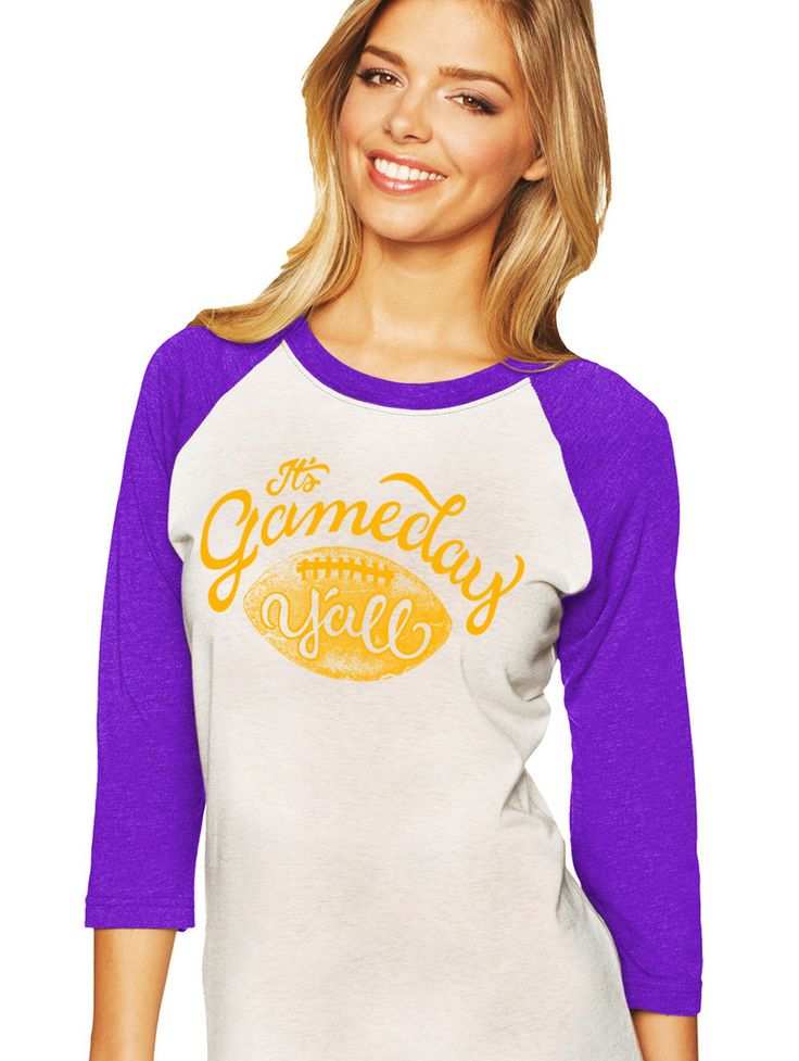Game Day tee purple/gold.Gaux Tigers!!! The perfect tee to root for the LSU Tigers! | Shop this product here: spreesy.com/graceadornedboutique/231 | Shop all of our products at http://spreesy.com/graceadornedboutique    | Pinterest selling powered by Spreesy.com