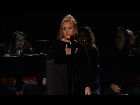 Adele Gets Emotional During George Michael Tribute at the Grammys (Video)