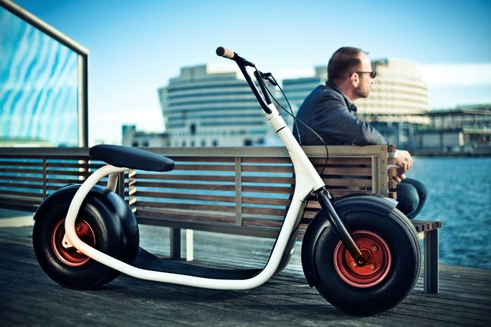 Those who have ridden these mostly human-powered machines say it's kind of like surfing, but on the street. Meet the Scrooser. #scooter