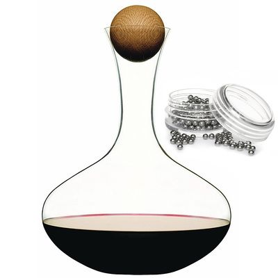 Sagaform Red Wine Decanter With Oak Stopper & Cleaning Balls #kitchengiftco
