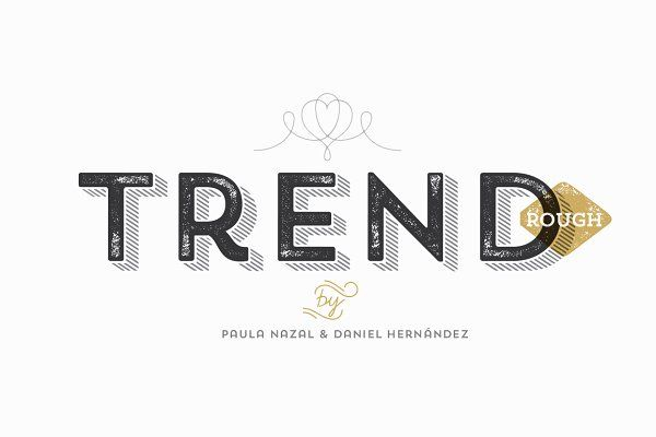 Trend Rough Family 60% OFF by Latinotype on @creativemarket