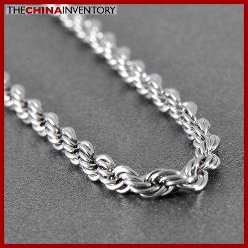 18` STAINLESS STEEL TWISTED ROPE CHAIN NECKLACE N0902