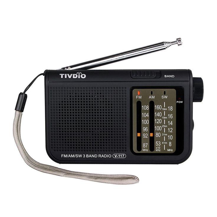 TIVDIO V-117 Portable AM/FM Radio with Shortwave