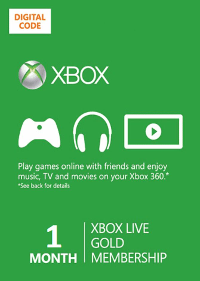 prepaid gaming cards 156597 1 month xbox one 360 live