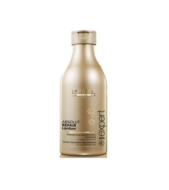 L'Oréal CHAMPU SERIE EXPERT ABSOLUT REPAIR LIPIDIUM  Champú Reconstructor instantáneo para cabellos muy estropeados.