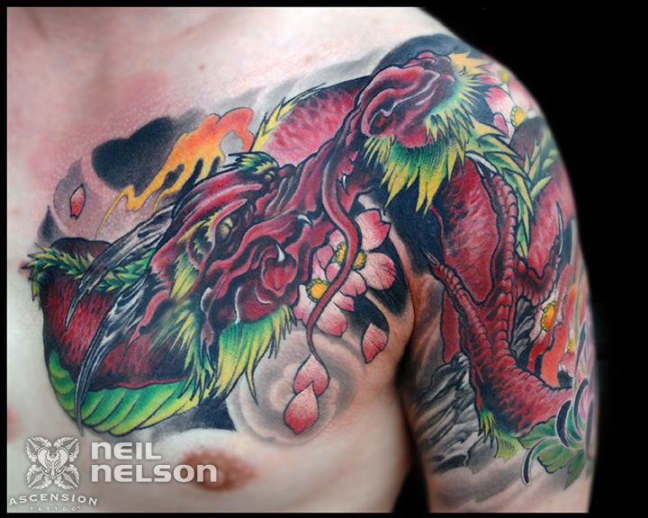 Japanese Dragon Tattoo By Neil Nelson Orlando Fl Www