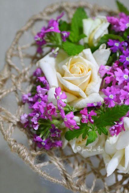 #rustic #buchet carcasa din sfoara cu flori