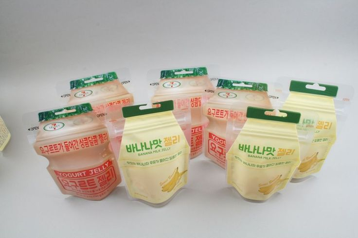 7 Eleven Yogurt Jelly Lotte Banana Milk Jelly gummi Candy 4+3 packs NEW #7Eleven