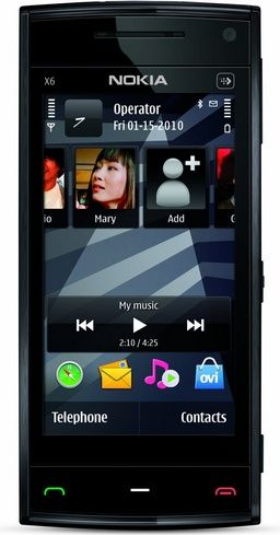 Nokia X6 Unlocked GSM Phone, 16GB, Black - For Sale