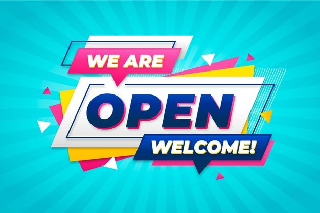 We Are Open Sign Concept Free Vector Freepik Freevector In 2020 We Are Open Sign Open Signs Concept