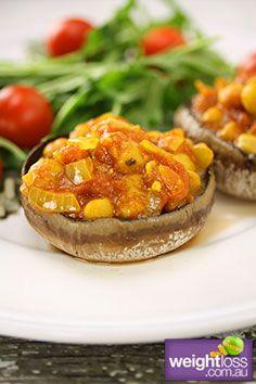 Field Mushroom with Chickpeas & Tomato  - weightloss.com.au