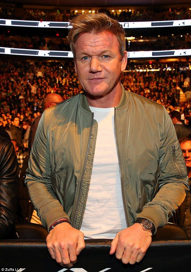 Cooking up: Celebrity chef Gordon Ramsey was also in attendance