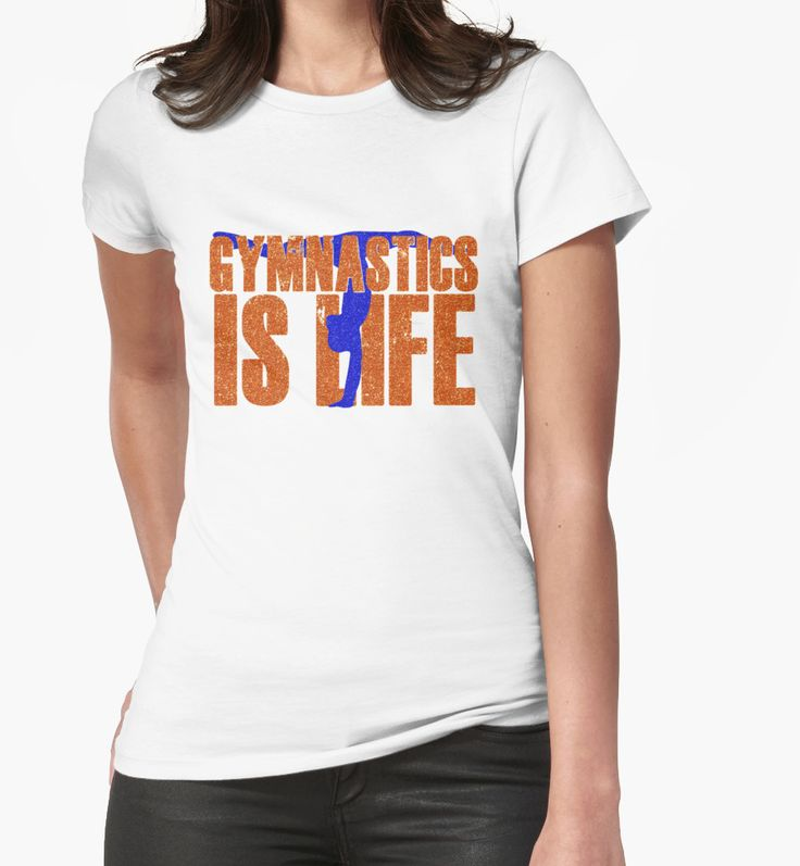 Gymnastics Is Life Tumble Tumbling Gymnast Faux Sparkly Glitter Bling Beams Vault  by CozyTeesBuffalo