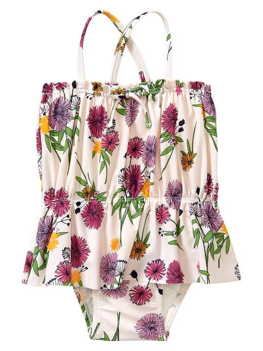 Gap Floral Peplum One Piece | More pastel lusciousness here: http://mylusciouslife.com/prettiness-luscious-pastel-colours/