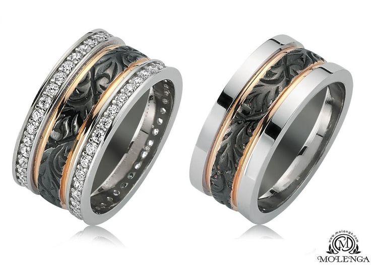 Gümüş Çift Alyans Modeli Taşlı