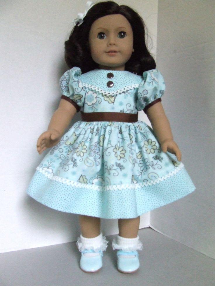 Aqua and brown dress: Brown Dresses, Christmas Dresses, Girls Dolls, 1 Dolls Clothing Patterns Tips, Aqua Dresses, Ag Clothing, Inch Dolls, Dolls Dresses, American Girls