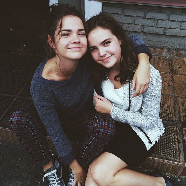 Maia Mitchell and Bailee Madison both look so chic in this photo. | The Fosters