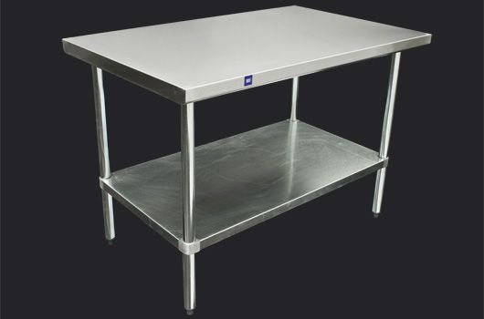 """30"""" x 48"""" Stainless Steel worktable with a galvanized steel undershelf  Model: DSST-3048-GS Many sizes available."""
