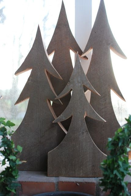 Christmas trees from boards