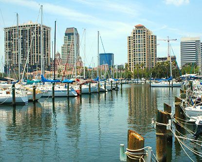 """St Petersburg Florida has earned its nickname as """"The Sunshine City"""" for its abundantly pretty weather."""