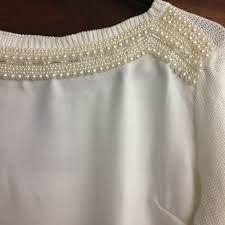 blusa de trico bordada com perolas - Pesquisa Google